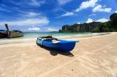 Canoes on the beach — Stock Photo