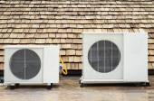 Air conditioner on the roof — Stock Photo
