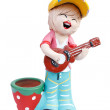 Doll made from baked clay in Thailand — Stock Photo #59945533