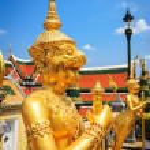 Golden Angle at Wat Phra Kaeo — Stock Photo #60061035