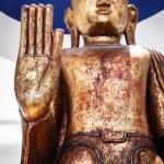 Wooden buddha statue — Stock Photo #60061967