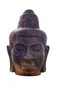 Sculpture ancient of head buddha — Stock Photo