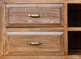 Vintage wooden drawer — Stock Photo