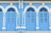 Vintage window in Sino-Portuguese style — Stock Photo