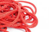 Tangled Red rope — Stock Photo