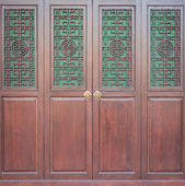 Chinese style wooden door — Stock Photo