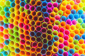 Colorful straws for background — Foto Stock