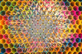 Colorful straws for background — Stock Photo