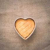 Heart butter cake — Стоковое фото