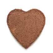 Heart-shape Chocolate cake — Stock Photo