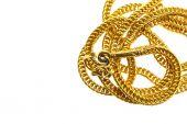 Gold shiny necklace — Stockfoto