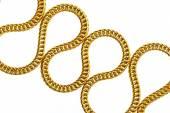 Gold shiny necklace — Foto Stock