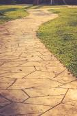 Stone path in park — Stock Photo