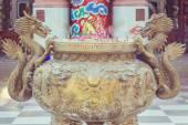 Stahl-Drachen-statue — Stockfoto