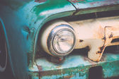 Headlight of vintage car — Stock Photo
