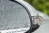 Water drops on car — Stock Photo