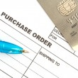 Purchase order with credit card — Stock Photo #75088985