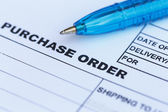 Purchase order with pen — Stock Photo
