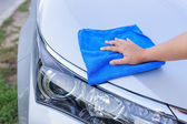 Hand cleaning car — Stock Photo