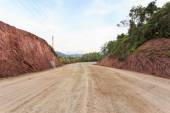 Mountain showing red soil — Stock Photo
