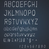 Vector scribble alphabet — Stock Vector