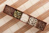 Assortment of tasty seeds — Stock Photo