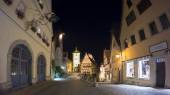 Rothenburg ob der Tauber at the evening — Stock Photo