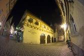 罗腾堡 ob 堡在晚上 — 图库照片