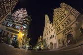 Rothenburg ob der tauber am abend — Stockfoto