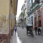 HAVANA, CUBA - JULY 16, 2013: Typical street view in Havana, the capital of Cuba — Stock Photo #55729583
