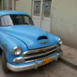Typical old retro car on the street in Havana — Stok fotoğraf #55819947