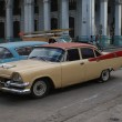 Typical old retro car on the street in Havana — Stok fotoğraf #55819957