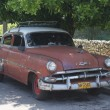 Typical old retro car on the street in Havana — Foto Stock #55819977