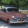 Typical old retro car on the street in Havana — Stock fotografie #55819977
