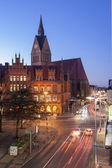 Old town hall and Marktkirche in Hannover — Stock Photo