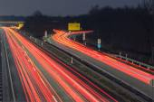 Hannover fair highway A37 at evening — Stock Photo