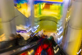 Passenger in the subway station in Hannover Germany, blurred motion. — Stock Photo