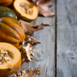 Decorative pumpkins background — Stock Photo #54708681