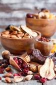 Mix of dried fruits — Stock Photo