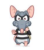 Rat thief — Stock Vector