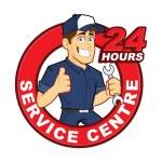 Mechanic 24 Hours Service Centre — Stock Vector #56682645