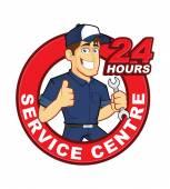 Mechanic 24 Hours Service Centre — Vettoriale Stock