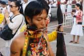 Vegetarian festival 2014 in phuket, thailand — Stock Photo