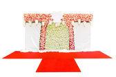 Fundo de flores bonitas para a cena do casamento — Fotografia Stock