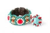 Blue stone bracelet — Stock Photo