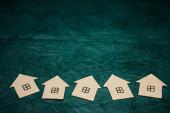 A few paper houses