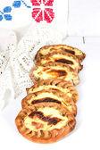 Traditional Karelian pies with potatoes — Stock Photo