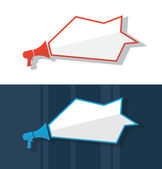 Flat design vector megaphone illustration — Stock Vector