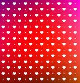 小さな白いハートのバレンタインの日カード — ストックベクタ