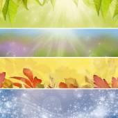 Four seasons — Stock Photo